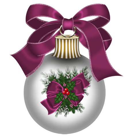 boule de noël violette